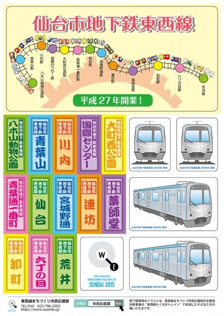 仙台市地下鉄東西線シールシート